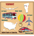Flat map of vermont vector