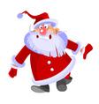 Cartoon santa claus curve and funny vector