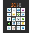 Mega set of abstract power buttons vector