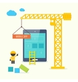 Flat style concept of mobile app developement vector