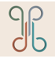 Abstract simple graphic sign for design vector