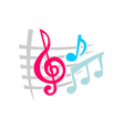 Notes music symbols vector