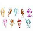 Ice cream snacks set vector