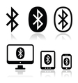 Bluetooth connection icons set vector