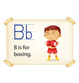 A letter b for boxing vector