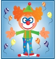 Greeting card with clown vector