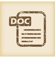 Grungy doc file icon vector