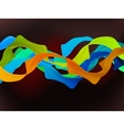 Shiny color waves vector