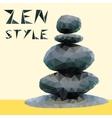 Stones in zen style vector