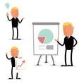 Businessman in presentation vector