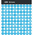 100 dj icons vector