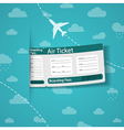 Air ticket on sky background vector