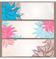 Set of three floral banners vector