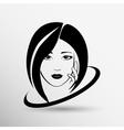 Woman face fashion girl beauty vector