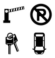 Parking icons vector