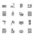 Set of home appliances and electronics icons vector