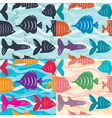 Seamless background aquarium fish vector
