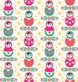 Russian doll matryoshka folk seamless pattern vector