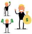 Profit businessman vector