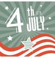 Fourth july 1776 independence day retro background vector