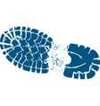 Hiking boot track vector