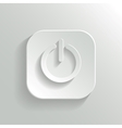 Power icon - white app button vector