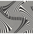 Striped textured chevron optical vector