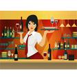 Female bartender vector