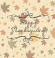 Happy thanksgiving card in format vector