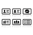Business card icons set vector
