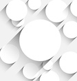 Flat round paper notes vector