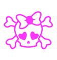 Emo skull vector