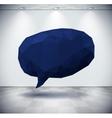 Dark geometric speech bubble in white room vector