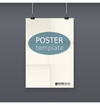 White poster template on a rope vector