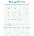 Calendar planner 2015 design template vector
