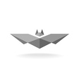 Bat geometric logo vector