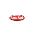 Guest book button vector