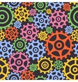 Seamless background from gears vector