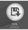 Floppy disk download flat modern web button with vector