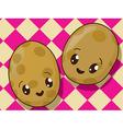 Kawaii potato icons vector
