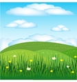 Year landscape with flower vector