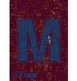 Alphabet m vector