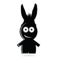 Funny people with donkey ears vector