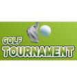 Golf tournament vector