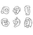 Old people faces bw vector