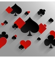 Abstract background with playing cards elements vector