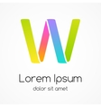 Logo letter w company design template vector