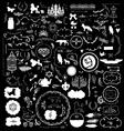 200 hand sketched vintage design elements vector