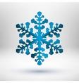 Abstract metal christmas snowflake vector