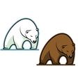 Big kodiak bear vector